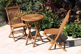 Folding Bistro Table And 2 Chairs Sale Folding Bistro Teak Set Oceanic Teak Furniture
