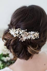 haarschmuck hochzeit blume goldene blume haarspangen headpiece elfenbein flower hair rebe