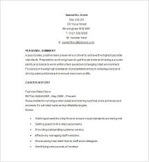 Retail Store Manager Resume Example by Retail Resume Templates Retail Cv Template Sales Environment
