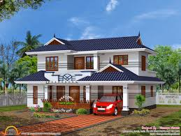 modern luxury house with cellar floor kerala home design and right