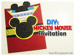 the290ss diy mickey mouse invitation