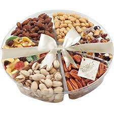 fruit and nut baskets nuts and dried fruit gift tray a great healthy gift