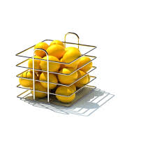 metal fruit basket 3d model square chrome metal fruit basket cgtrader