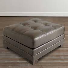 Ottoman For Sale Slate Gray Leather Ottoman Bassett Home Furnishings