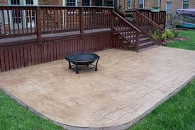 Concrete Patio Design Pictures Decorating Rustic Home Design With Deck Design Using Railing And