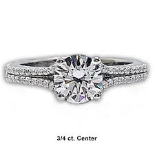 price engagement rings images Split shank diamond engagement ring by facets special price png