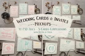 rustic wedding invitation mockup product mockups creative market
