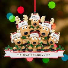 the original snow buddies family in ornament