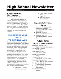 november newsletter michael j petrides school