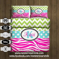 chevron bedding chevron and zebra monogrammed bedding