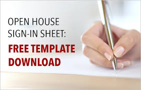 Free Templates For Sign In Sheets Estate Open House Sign In Sheet Free Template