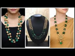 necklace designs with beads images Latest south indian beads necklace jewellery designs in gold jpg