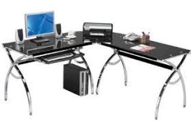 techni mobili black glass corner desk glass desk glass corner desk
