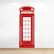 Liverpool Wall Stickers London Phone Box Vinyl Wall Sticker British Wall Sticker Wall