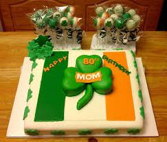 irish flag shamrock theme birthday cake and cake pops our cakes