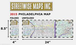 San Diego City College Map Streetwise Philadelphia Map Laminated City Center Street Map Of