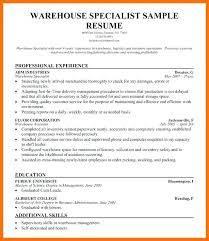 resume exles for warehouse resume warehouse operative warehouse operative resume free