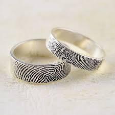 fingerprint wedding band fingerprint ring trend puts personal spin on traditional wedding bands
