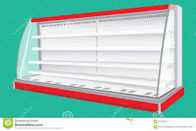 cooled regal rack refrigerator wall cabinet blank empty showcase