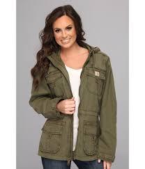carhartt el paso utility jacket in green lyst