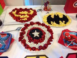 superhero fruit trays superhero birthday party ideas