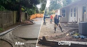 backyard concrete patio buchheit construction pictures with