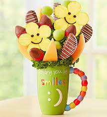 fresh fruit bouquet wichita ks mugable sweet and smiley fruitbouquets 145654