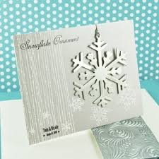 snowflake ornament wedding favor place cards