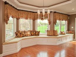 Bay Window Valance Kh Window Fashions Inc Traditional Living Room Boston By