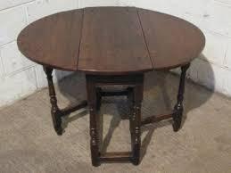 Drop Leaf Oak Table Small Antique 11 Country Oak Peg Joined Drop Leaf Gate Leg