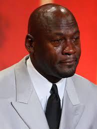 Meme Jordan - star of crying jordan meme cries while receiving presidential