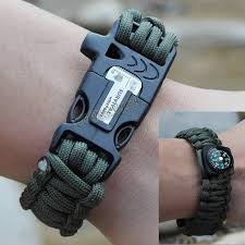 paracord bracelet buckle with whistle images Paracord bracelets band w flint fire starter compass whistle jpg