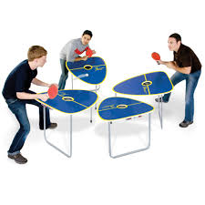 collapsible table tennis table the quad table tennis game hammacher schlemmer