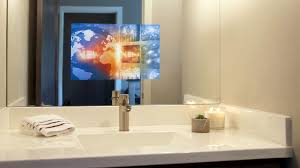 Tv Bathroom Mirror Bathroom Bathroom Mirror With Tv Built In Tv Mirrors And
