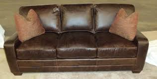 King Hickory Sofa - Hickory leather sofa