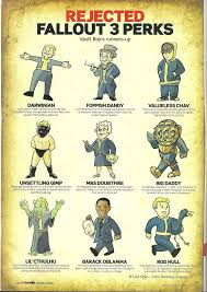 fallout 3 rejected perks gaming goodies pinterest fallout