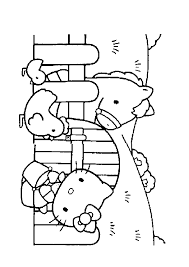free printable coloring pages for kids farm cow cats sheep