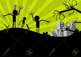 green halloween background halloween scarecrow background royalty free cliparts vectors and
