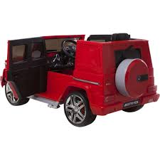 jeep wagon mercedes mercedes g63 wagon amg licensed 12v ride on jeep red outdoor toys