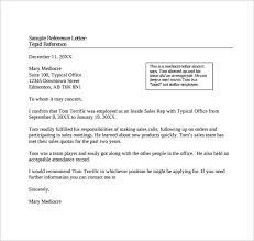 sample reference letter 14 free documents in pdf word