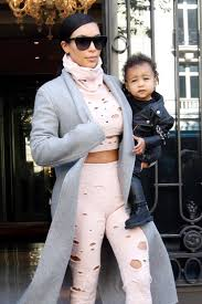 kim kardashian inflicts her personal style on north west ny
