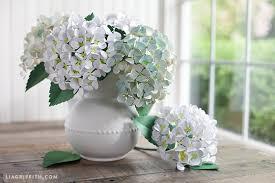 hydrangea flowers diy paper hydrangea flowers