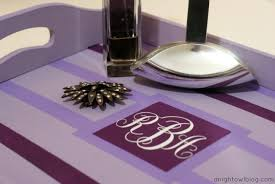 monogrammed trays diy s day monogrammed tray a owl