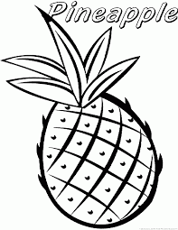 123 coloring pages pineapple coloring pages