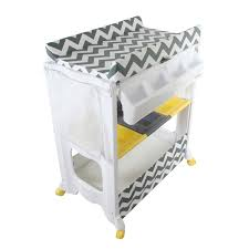 Bath Changing Table My Babiie Mbchzz Chevron Baby Bath And Changing Unit