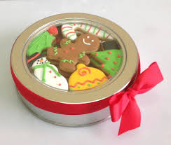 christmas tins christmas cookie tin cookie connection