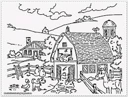 realistic farm animal coloring pages 02 throughout farm house