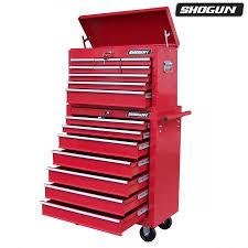 tool box shogun mechanic tool box on trolley with 16 drawers side handles