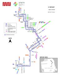 San Francisco Transit Map by 27 Bryant Bus Route Sf Muni Sf Bay Transit