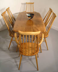 Ercol Dining Table And Chairs Hayloft Mid Century Ercol Goldsmiths Chairs And Plank Table